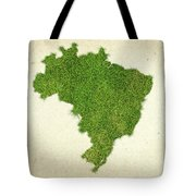 Brazil Grass Map Tote Bag by Aged Pixel