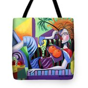 Breakfast At Tiffanie's  Tote Bag by Anthony Falbo