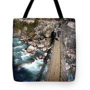 Bridge Crossing Tote Bag by Tim Hester