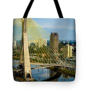 Bridge In Sao Paulo Tote Bag by Daniel Precht