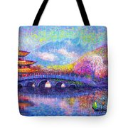 Bridge Of Dreams Tote Bag by Jane Small