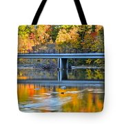 Bridges Of Madison County Tote Bag by Frozen in Time Fine Art Photography
