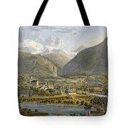 Brig On The Rhone, Bernese Alps Tote Bag by Swiss School
