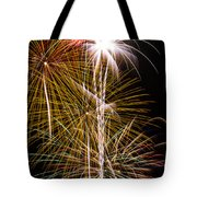 Bright Bursts Of Fireworks Tote Bag by Garry Gay