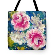 Brightly Floral Tote Bag by Susan Leggett
