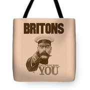 Britons Your Country Needs You  Tote Bag by War Is Hell Store