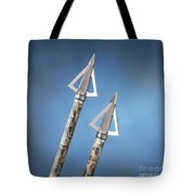 Broadheads On Blue Tote Bag by Jerry McElroy