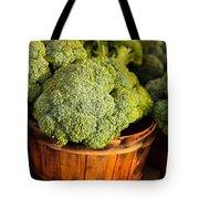 Broccoli In Baskets Tote Bag by Teri Virbickis