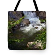 Brook Of Tranquility Tote Bag by Karen Wiles