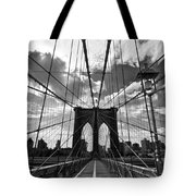 Brooklyn Bridge Tote Bag by Delphimages Photo Creations