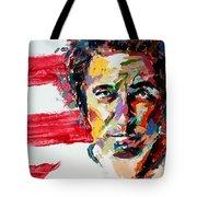Bruce Springsteen Tote Bag by Derek Russell