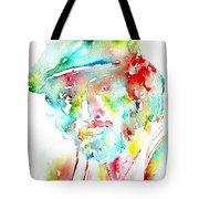 Bruce Springsteen Watercolor Portrait Tote Bag by Fabrizio Cassetta
