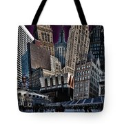 Bryant Park Collage Tote Bag by Chris Lord