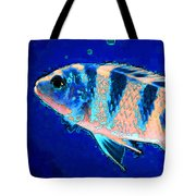 Bubbles - Fish Art By Sharon Cummings Tote Bag by Sharon Cummings
