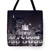 Buckingham Fountain Panorama Tote Bag by Steve Gadomski