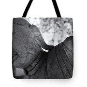 Buddha Face Tote Bag by Setsiri Silapasuwanchai