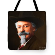 Buffalo Bill Cody 20130516 square Tote Bag by Wingsdomain Art and Photography