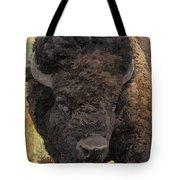 Buffalo Head Tote Bag by Sara  Raber
