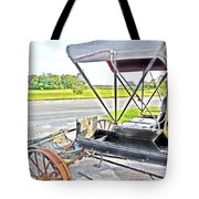 Buggy By The Road Tote Bag by Eloise Schneider