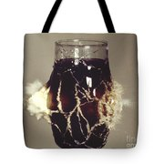 Bullet Piercing Glass Of Soda Tote Bag by Gary S. Settles
