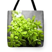 Bunch Of Fresh Oregano Tote Bag by Elena Elisseeva