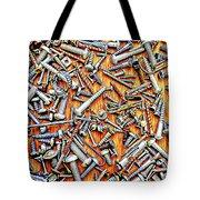 Bunch Of Screws 1- Digital Effect Tote Bag by Debbie Portwood