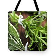 Bunches Of Fresh Herbs Tote Bag by Elena Elisseeva