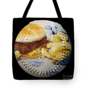 Burger And Fries Baseball Square Tote Bag by Andee Design