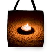 Burning Candle Tote Bag by Aged Pixel