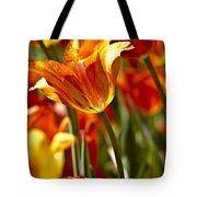 Tulips-flowers-tulips Burning Tote Bag by Matthew Miller