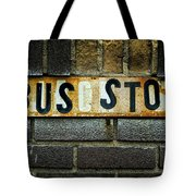 Bus Stop Tote Bag by Jeff Burton