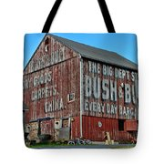 Bush And Bull Roadside Barn Tote Bag by Paul Ward