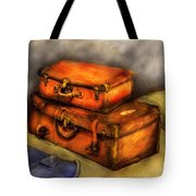 Business Man - Packed Suitcases Tote Bag by Mike Savad