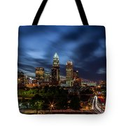 Busy Charlotte Night Tote Bag by Chris Austin
