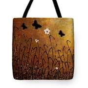 Butterflies Landscape Tote Bag by Carmen Guedez