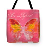 Butterfly Art - P11aig13a_ Art Is Good Tote Bag by Variance Collections