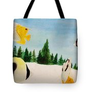 Butterfly Fish Tote Bag by Savanna Paine
