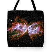 Butterfly Nebula Ngc6302 Tote Bag by Adam Romanowicz