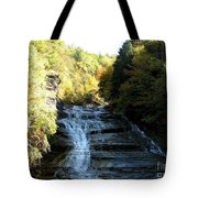 Buttermilk Falls Ithaca New York Tote Bag by Rose Santuci-Sofranko