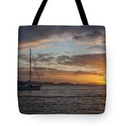 Bvi Sunset Tote Bag by Adam Romanowicz