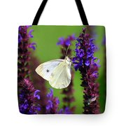 Cabbage White Butterfly Tote Bag by Christina Rollo