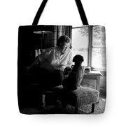 Cabin Chat Tote Bag by Trever Miller