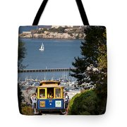 Cable Car in San Francisco Tote Bag by Brian Jannsen