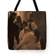 Cafe Du Monde Evening In New Orleans In Monochrome Tote Bag by Kathleen K Parker