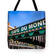 Cafe Du Monde Picture in New Orleans Louisiana Tote Bag by Paul Velgos