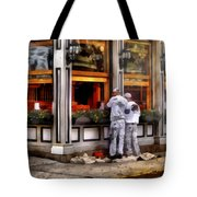 Cafe - The Painters Tote Bag by Mike Savad