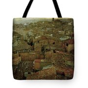 Calahorra Roofs From The Bell Tower Of Saint Andrew Church Tote Bag by RicardMN Photography
