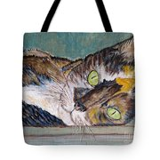 Calico Cat Tote Bag by Ella Kaye Dickey