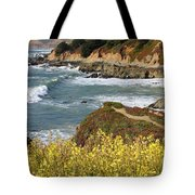 California Coast Overlook Tote Bag by Carol Groenen
