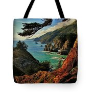 California Coastline Tote Bag by Benjamin Yeager